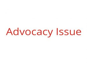 Advocacy issue graphic