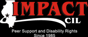 IMPACT Center for Independent Living logo in black for alternative color schemes